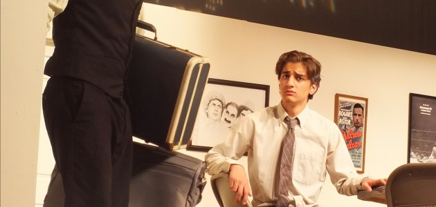 Felix, played by TJ Sullinger, walks out on a distressed Oscar, played by Zane Saddy.