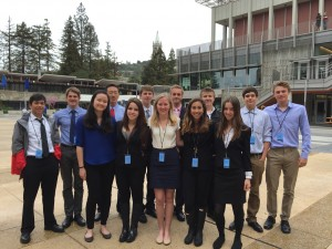 CHS Model UN team after a successful weekend at the Berkeley Conference. Photo by Delaney King.